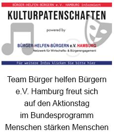 Team Bürger-helfen-Bürgern e.V. Hamburg freut sich auf den Aktionstag im Bundesprogramm Menschen stärken Menschen