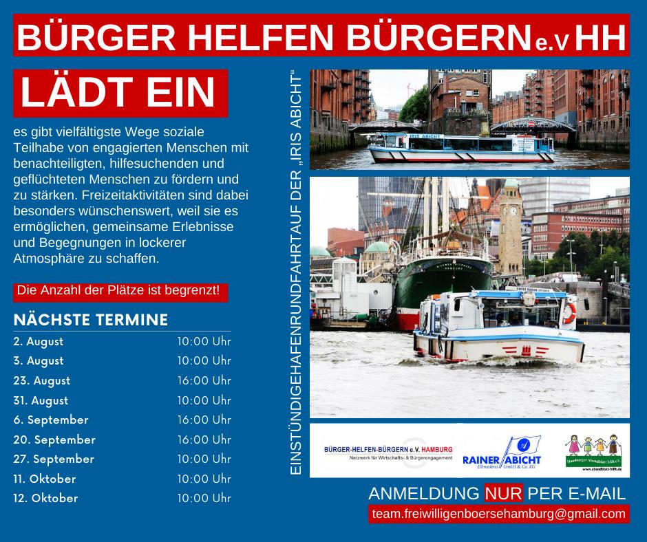 Bürger Helfen Bürgern e.V. Hamburg lädt ein zu Hafenrundfahrt 1