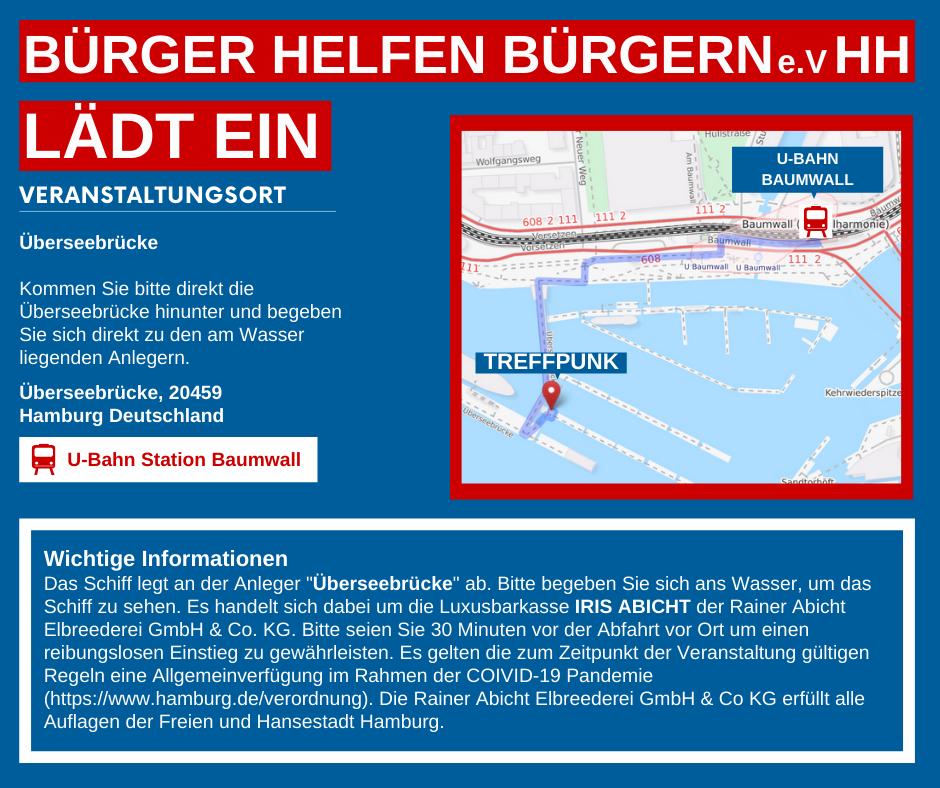 """EINLADUNG einstündige Hafenrundfahrt auf der """"Iris Abicht"""""""